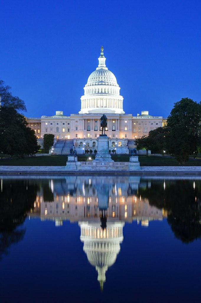 U.S. Capitol Building at Night